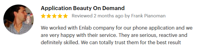 Review from Enlab's client