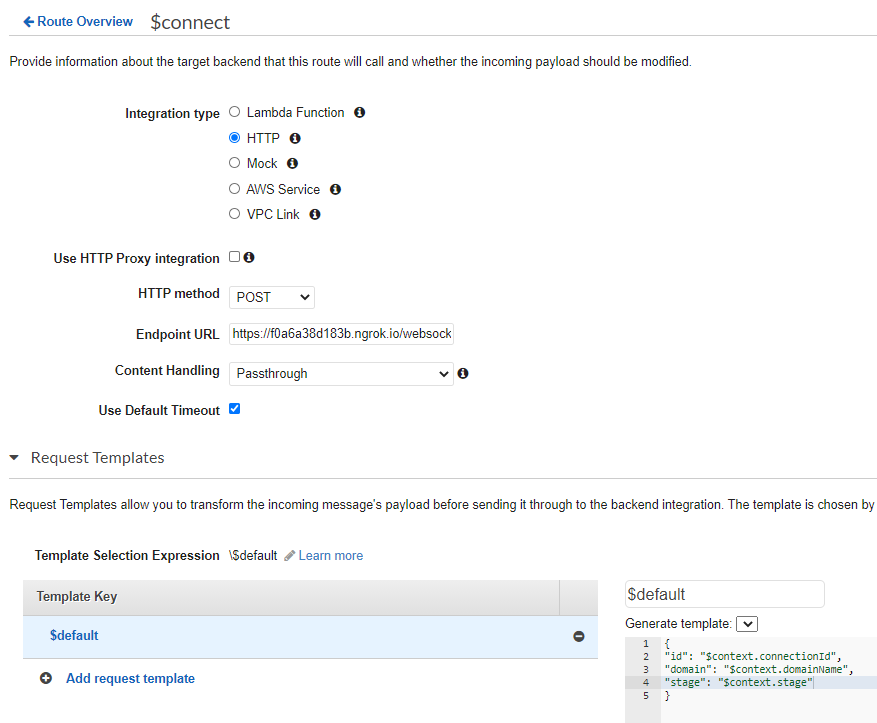 WebSocket API integration