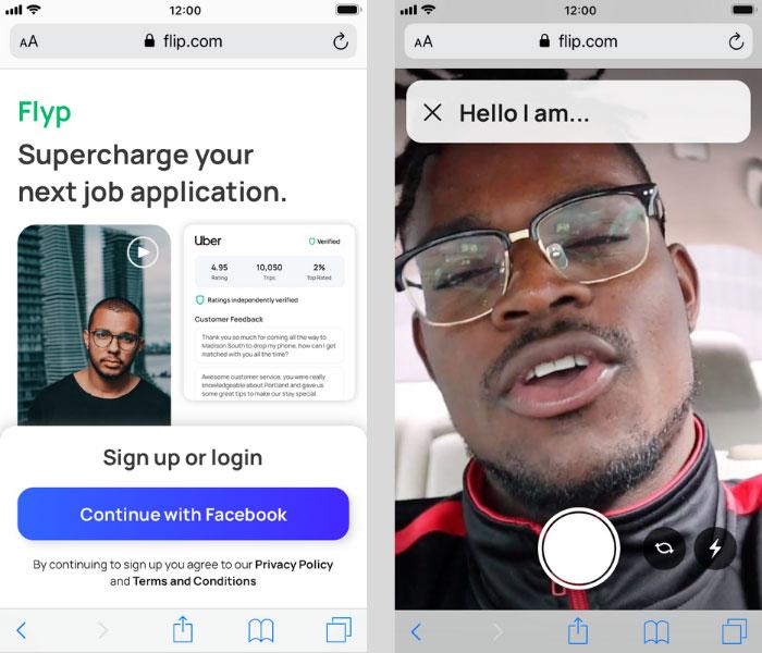 flyp - Online platform for hiring blue-collar workers - Video streaming